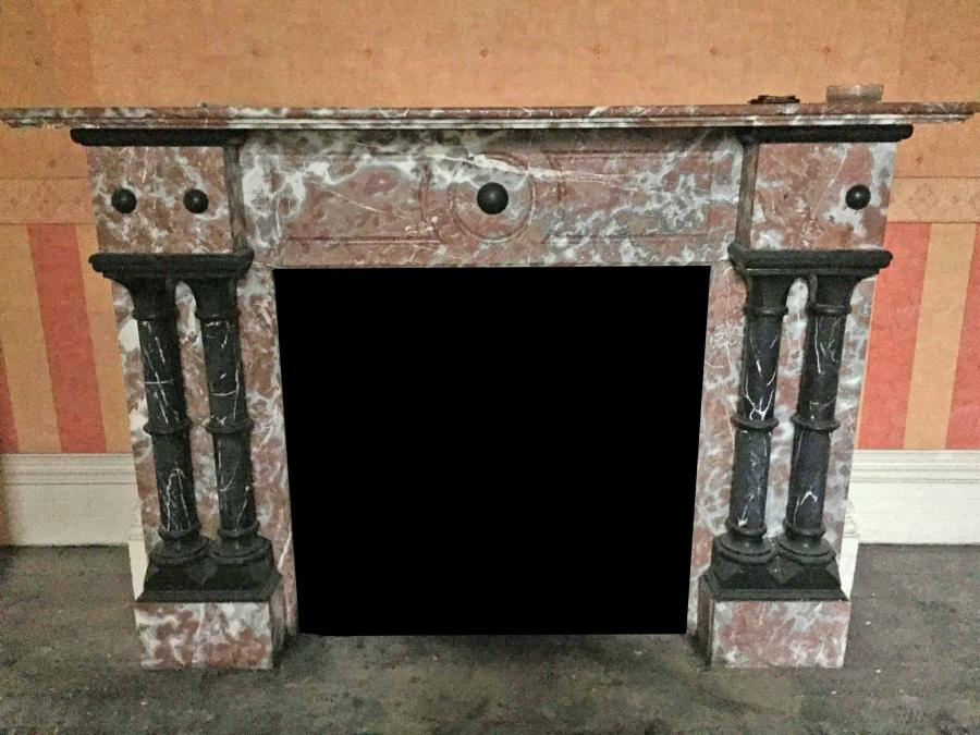Large Victorian Marble Fireplace