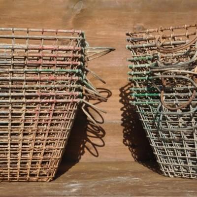vintage wirework oyster baskets