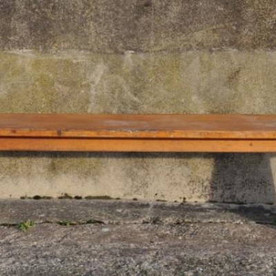 vintage beech school bench