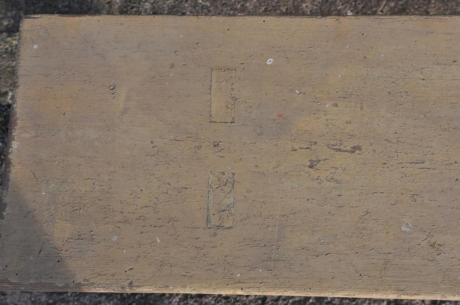 antique painted pine french bench