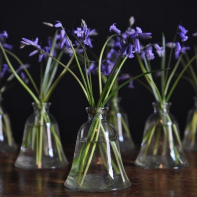 vintage glass vases 1940s