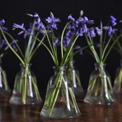 vintage glass vases 1940s