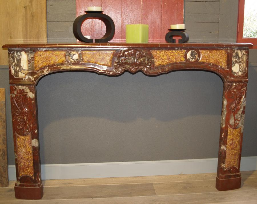 18th C French marble fireplace