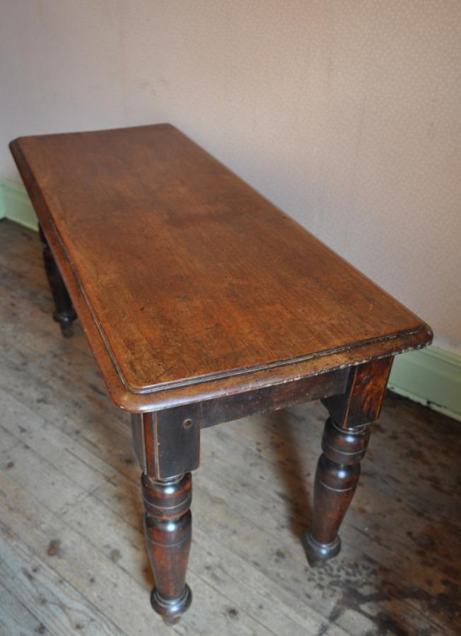 antique oak side dining table