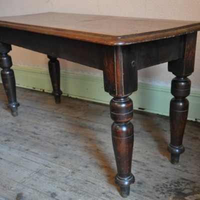 antique oak side dining table