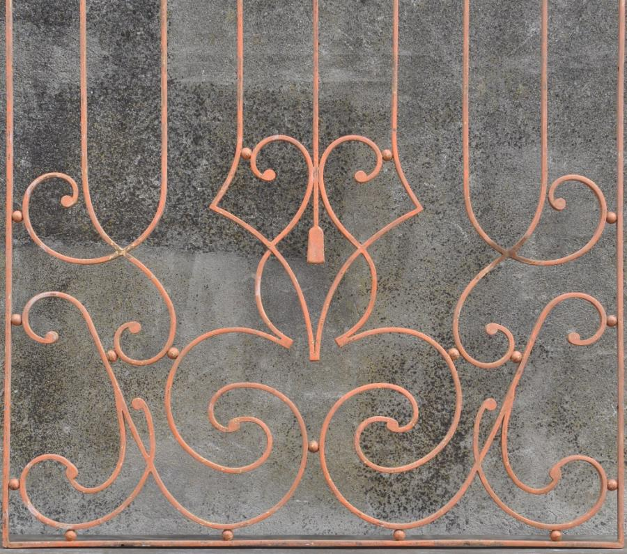 large french vintage decorative iron grill
