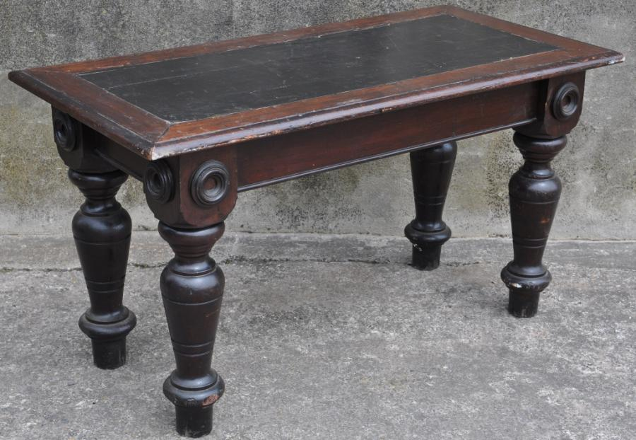 chunky victorian side table desk