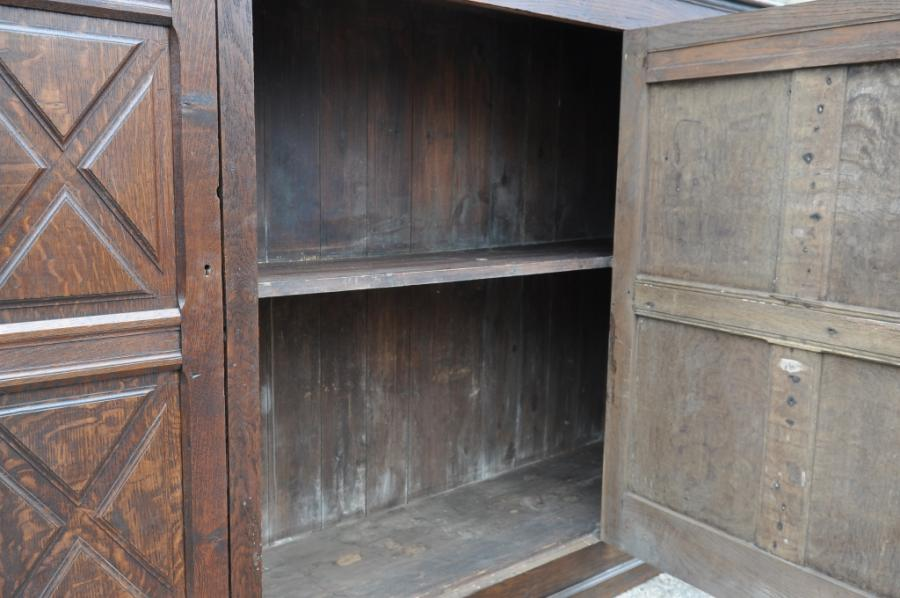 antique 19th century french oak  cupboard