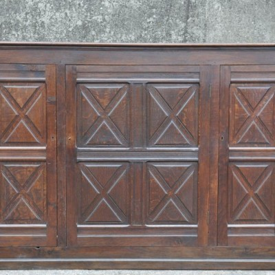 antique 19th century french oak  cupboard