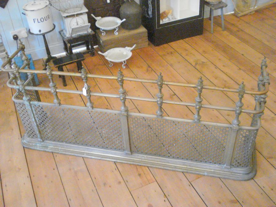 For Sale Heavy Large Antique Victorian Fireplace Fender Guard