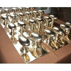 brass door knobs -original and in sets
