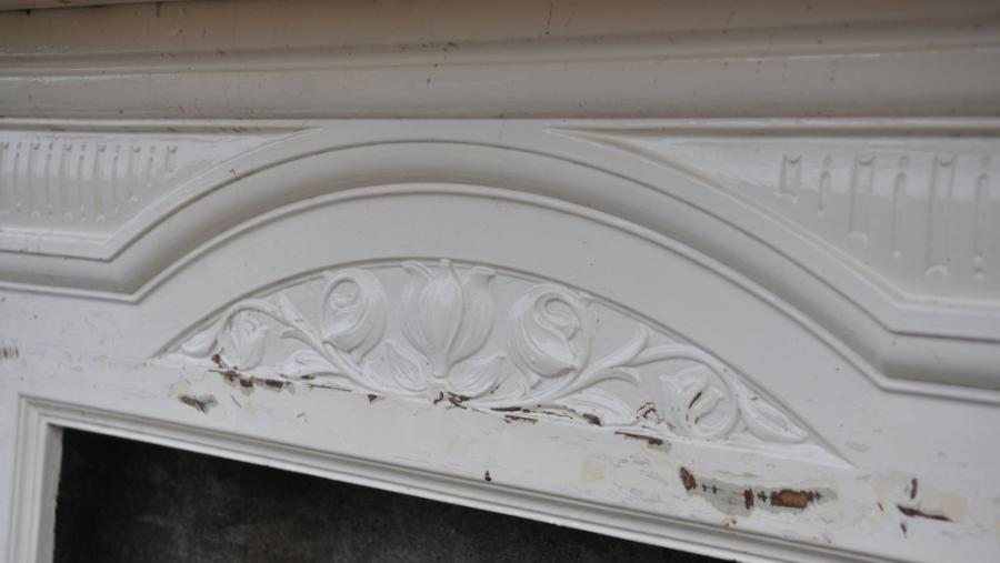 art nouveau cast iron surround