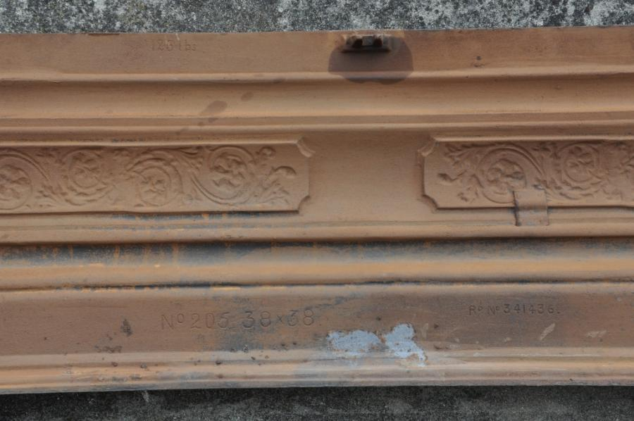 art nouveau cast iron surround 2