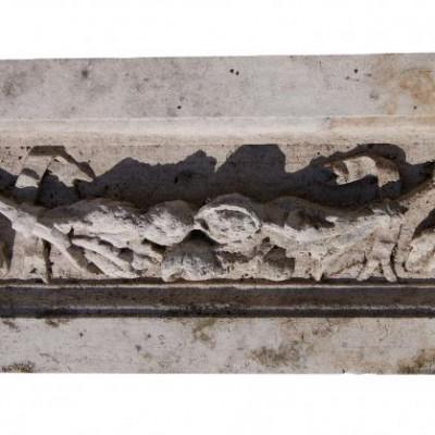 Antique carved Portland stone frieze panel (1)