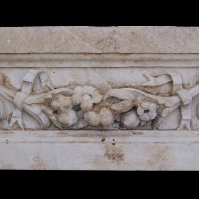 Antique carved Portland stone frieze panel 7