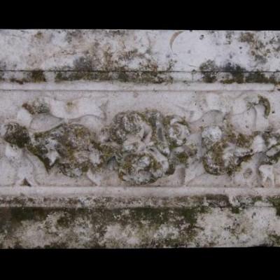 Antique carved Portland stone frieze panel 8