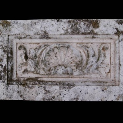 Antique carved Portland stone frieze panel 12