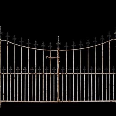 Pair of 19th century wrought iron gates