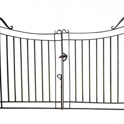 A pair of antique iron drive gates