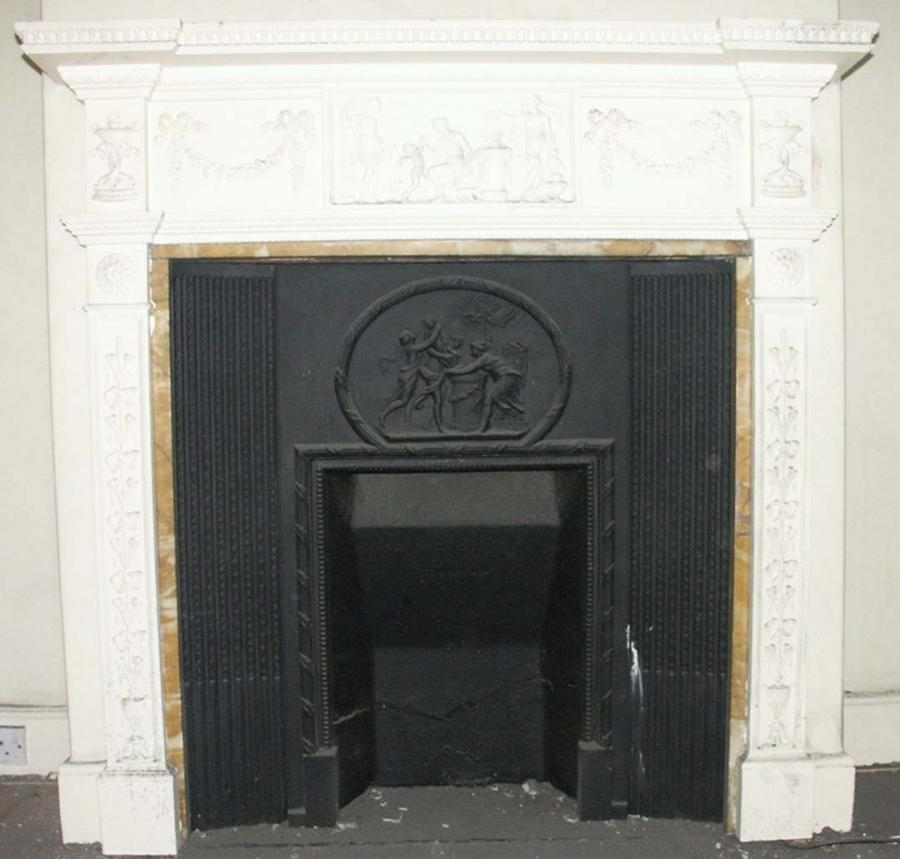 victorian pine and gesso fireplace