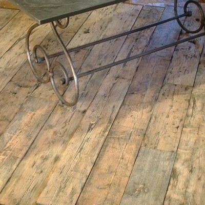 PLANCHER parquet WAGON SAPIN / pine wagon boards