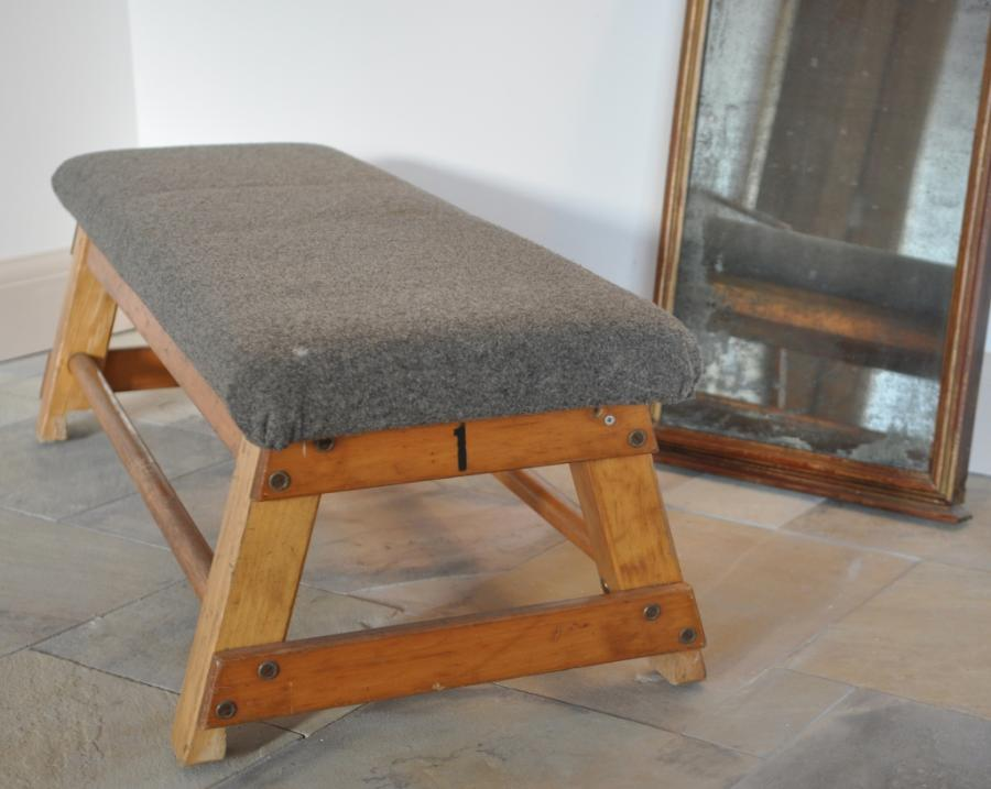 vintage gymn bench coffee table