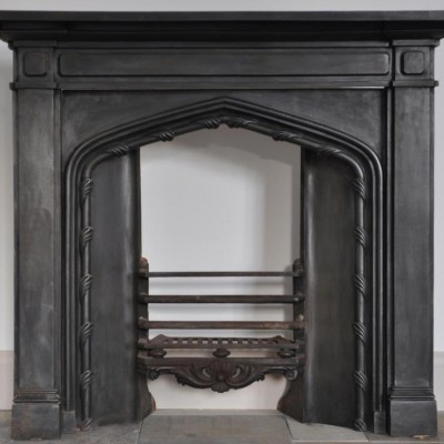 antique cast iron gothic fireplace 1830s