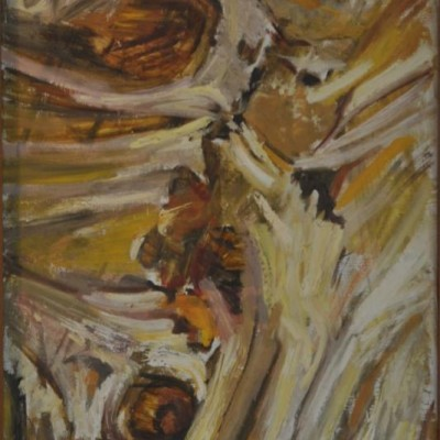 1950s/60s abstract oil painting.
