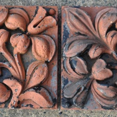 antique victorian decorative  terracotta brick inserts