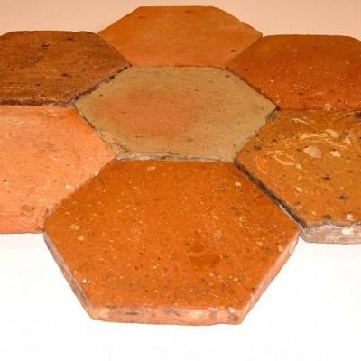 Terre-cuite hexagones - Antique hexagonal terra-cotta