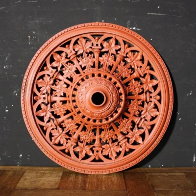 A Victorian cast iron ceiling rose C. 1878