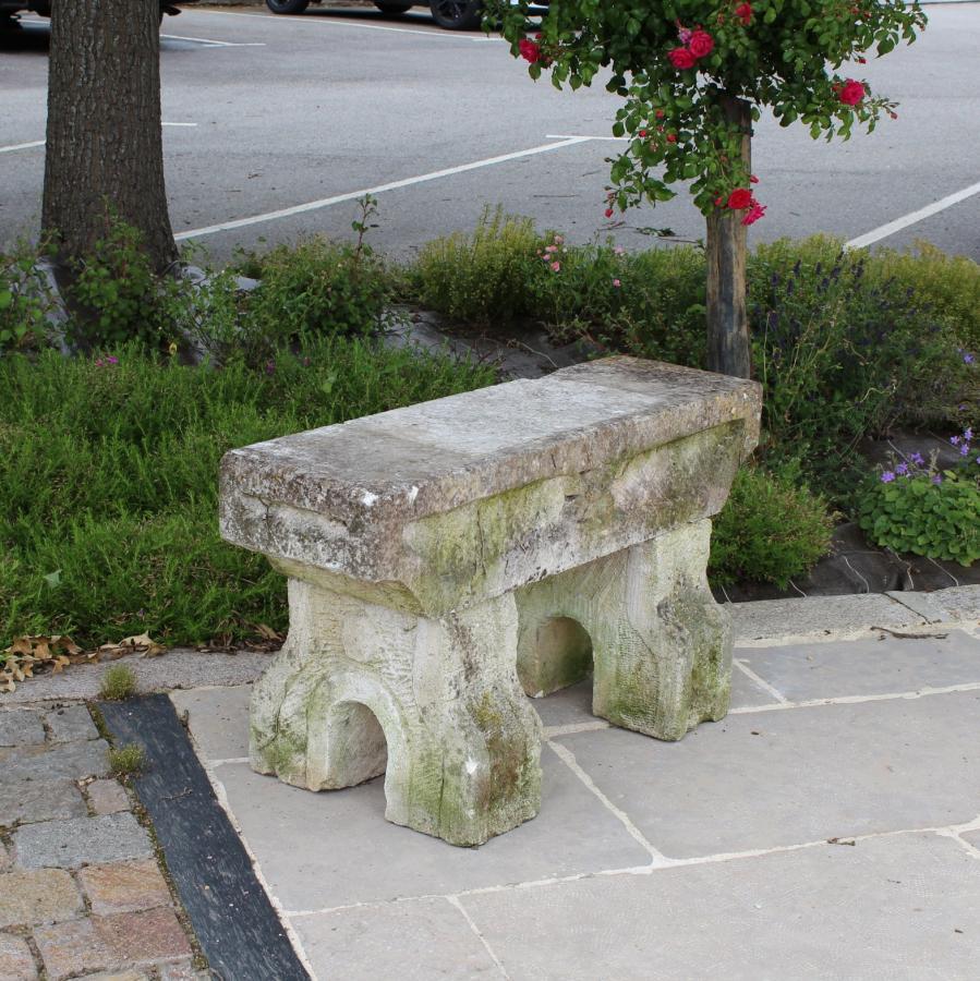for sale banc en pierre calcaire - antique limestone bench- salvoweb
