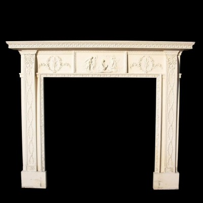A Regency pine and Gesso fire surround