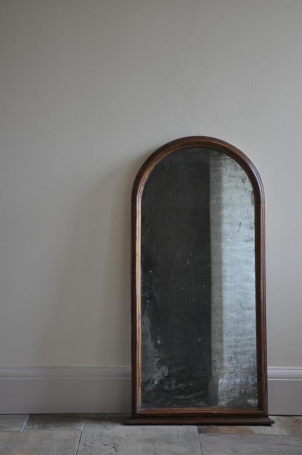 antique 19th century arched framed mirror