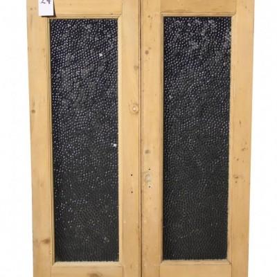 1950's obscured glass cupboard doors