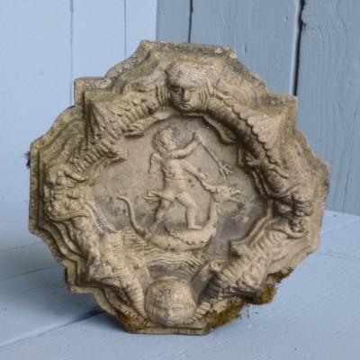 Antique Terracotta Broseley Wall Tile Plaque
