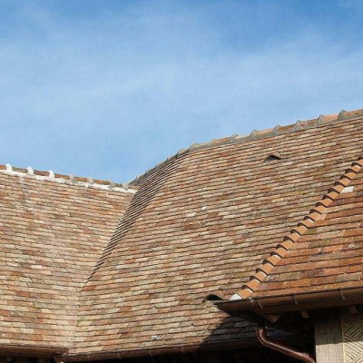 Tuiles plates / French antique reclaimed terracotta roof tiles