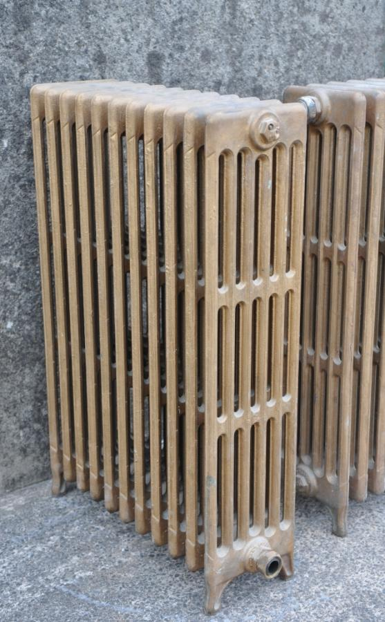 antique pair 6 column cast iron radiators original paint