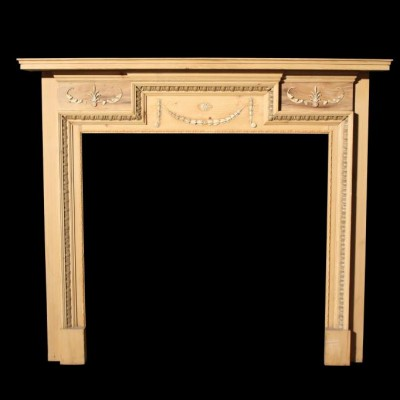 antique pine and composition fire surround
