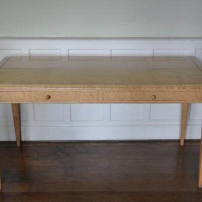sycamore and zebrano desk