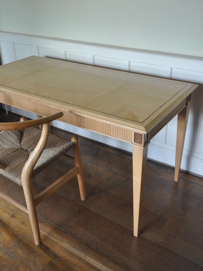 sycamore and zebrano desk
