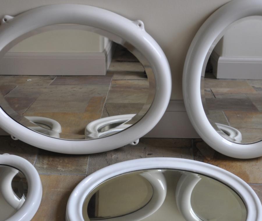 oval ceramic porcelain mirrors 1920s
