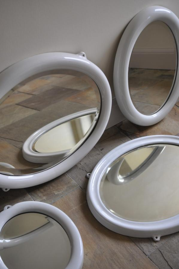 oval ceramic porcelain mirrors 1920s