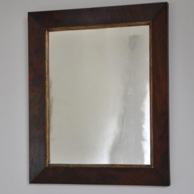 antique flame mahogany mirror c.1840
