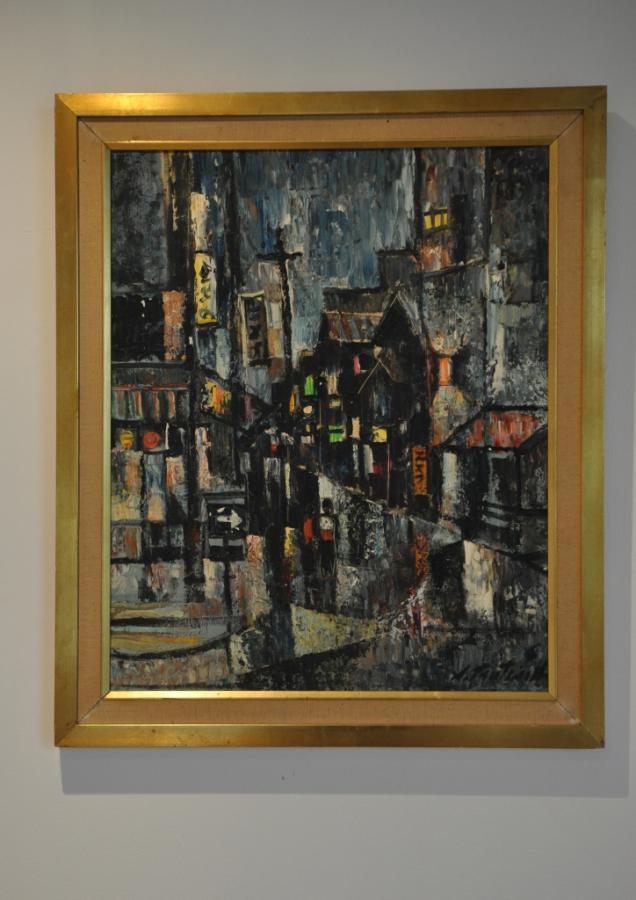 1960s oil painting - streetscene