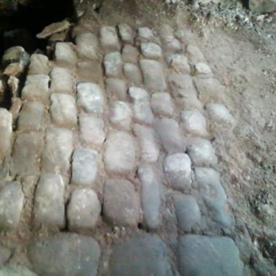 Reclaimed Coursed Granite Setts