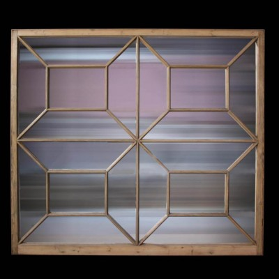 A reclaimed pine mirror frame