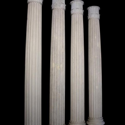 """Four 10'6"""" fluted columns from Benacre Hall C.1927"""
