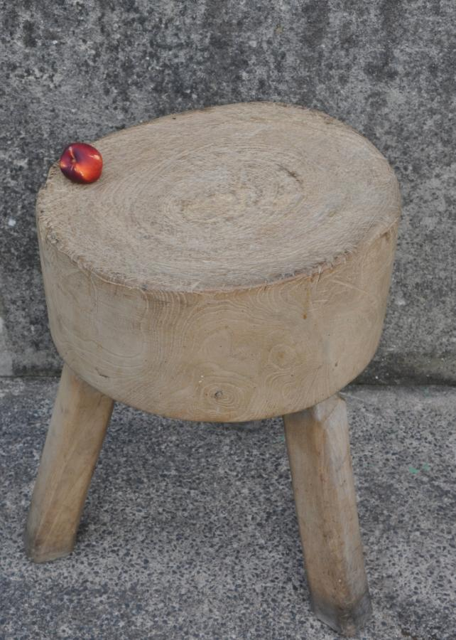 antique 19th century butchers block table