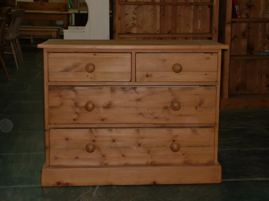 Old Reclaimed Pine Chest Of Drawers